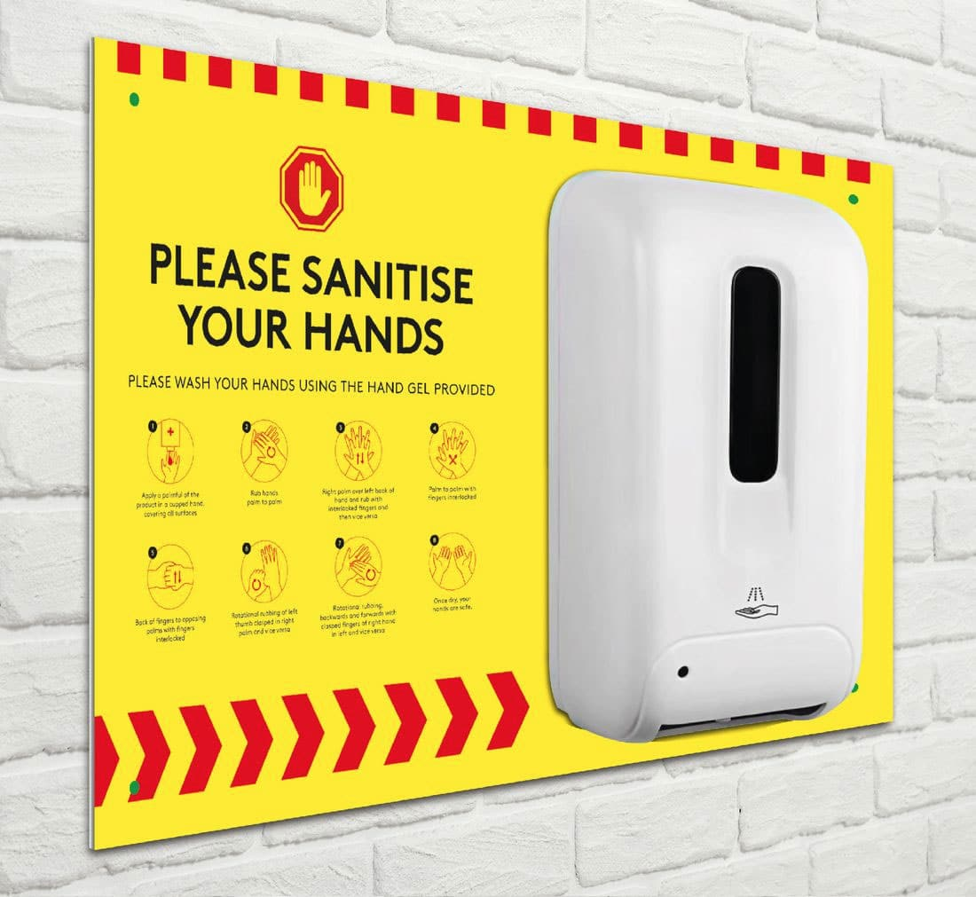 A3 Wall Mounted Automatic Hand Sanitiser Stations