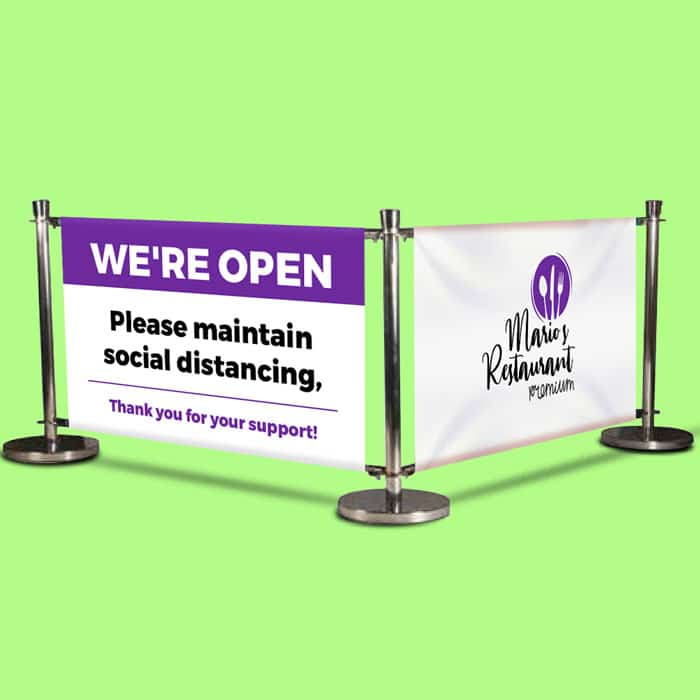 Banner Cafe Barriers