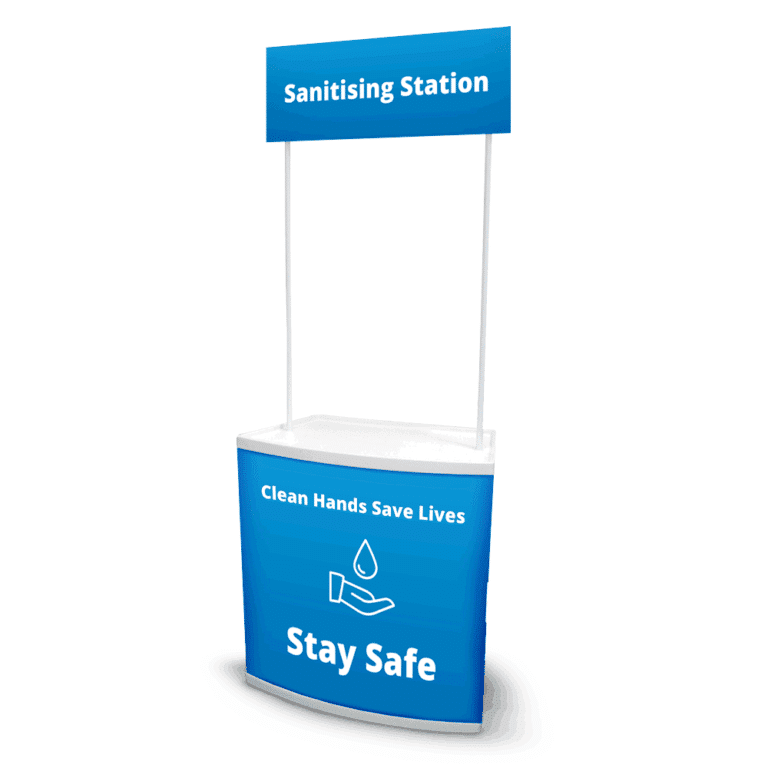 Budget Sanitising Stations Blue