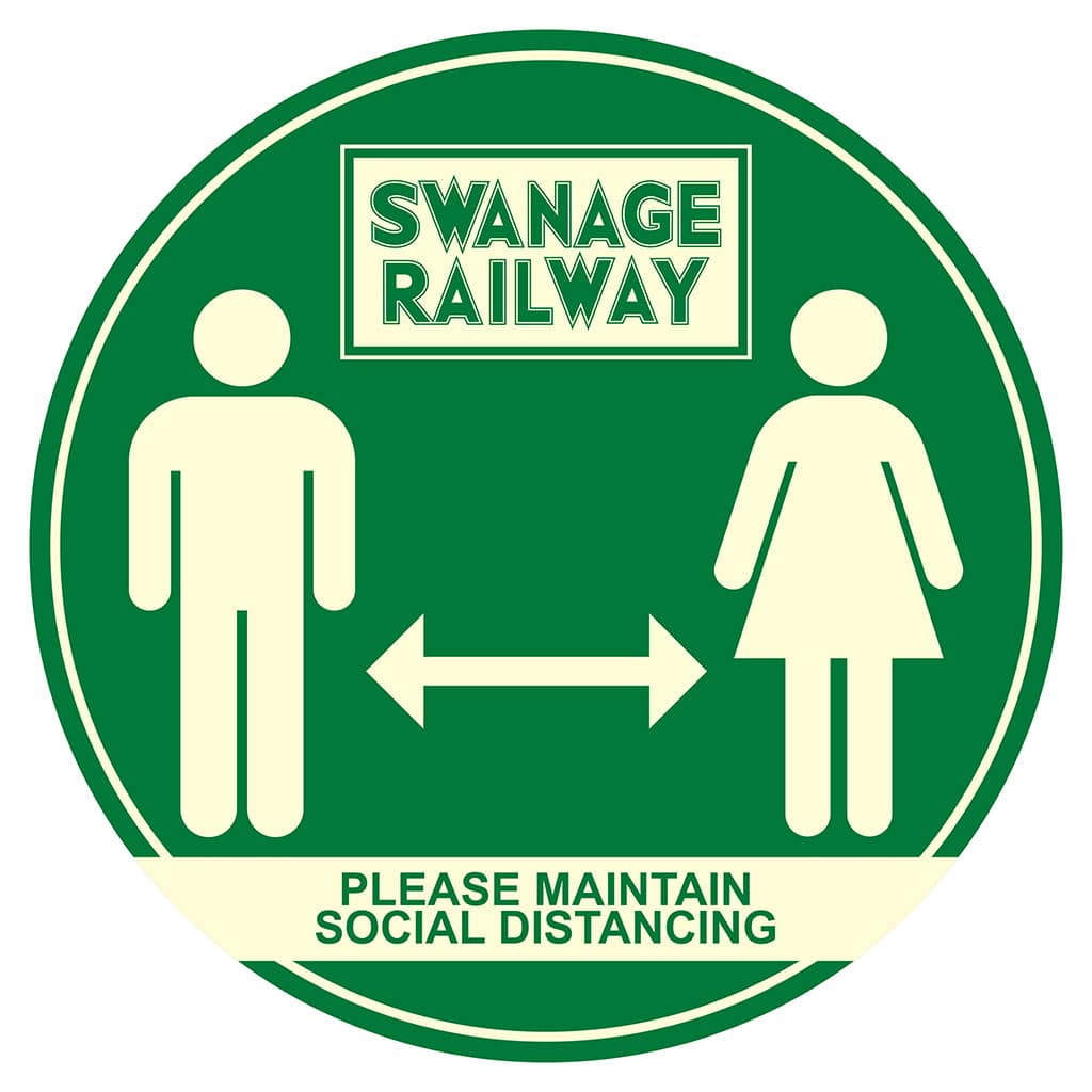 Floor Stickers Swanage Railway Social Distancing Outdoor Floor Stickers