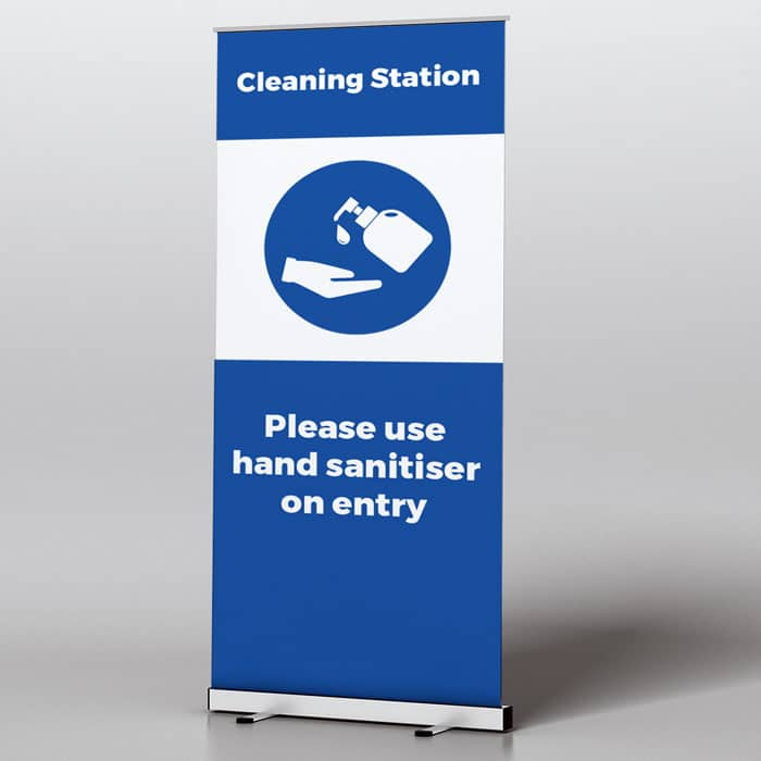 Roll Up Banner Cleaning Station