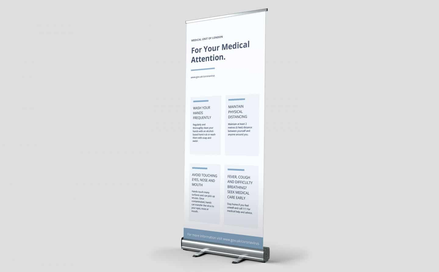 Roll Up Banners Health Advice