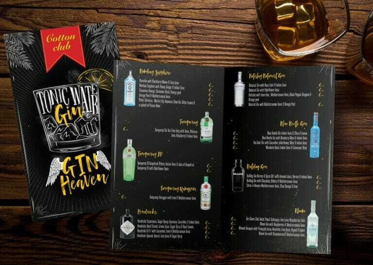 8pp Drinks Menu Design And Print