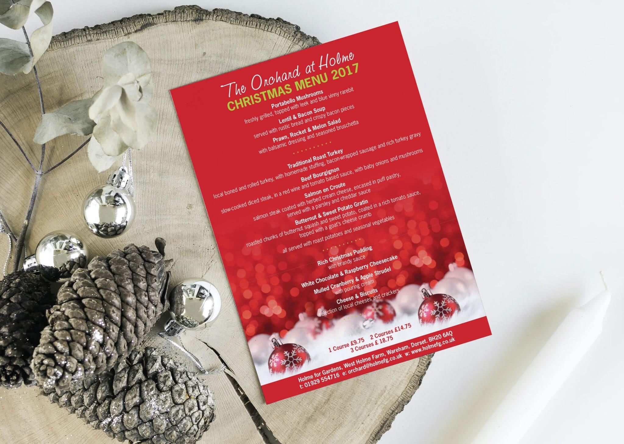 A5 Christmas Menu Design And Print