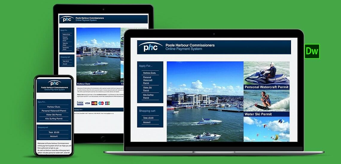 Harbour Commissioners Ecommerce Website Design