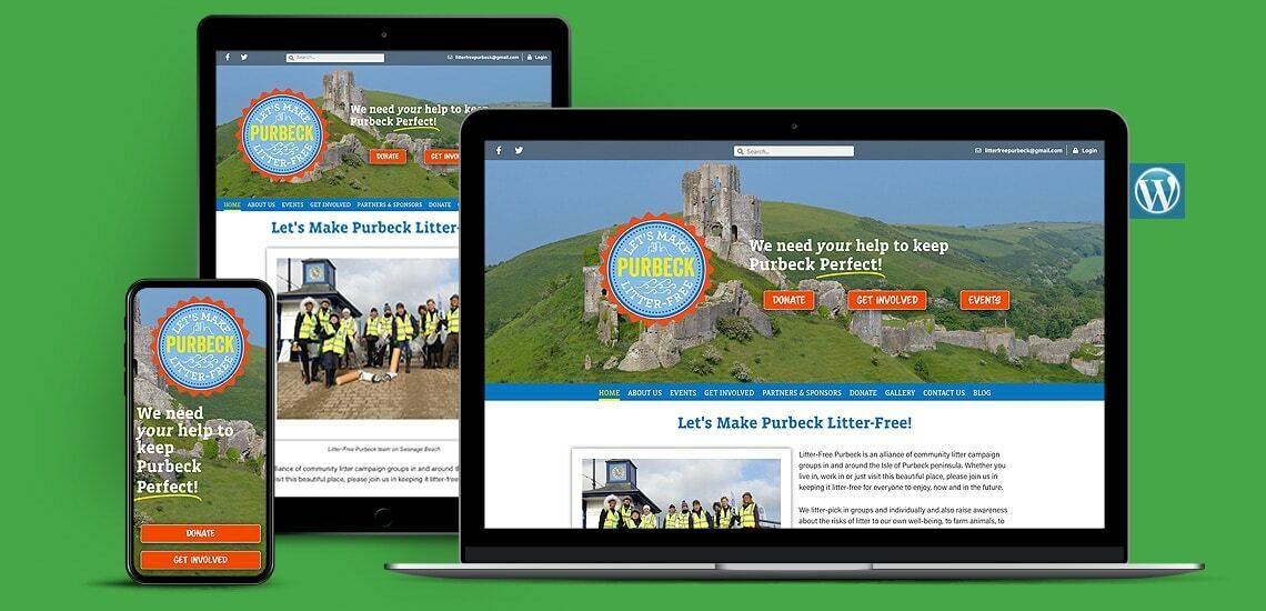 Litter Campaign Group WordPress Website Design