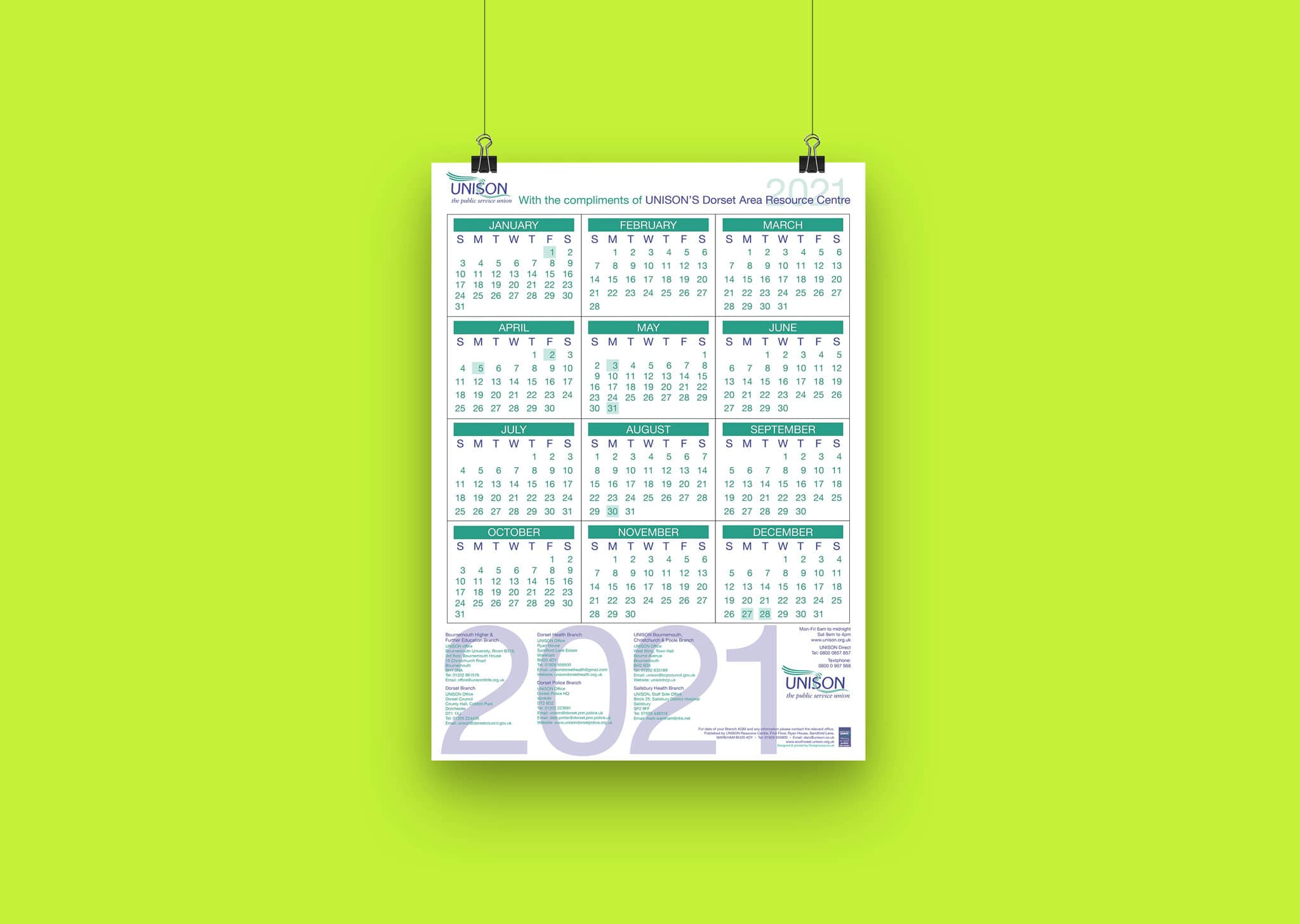 A Z Design And Print Services Calendar Printing