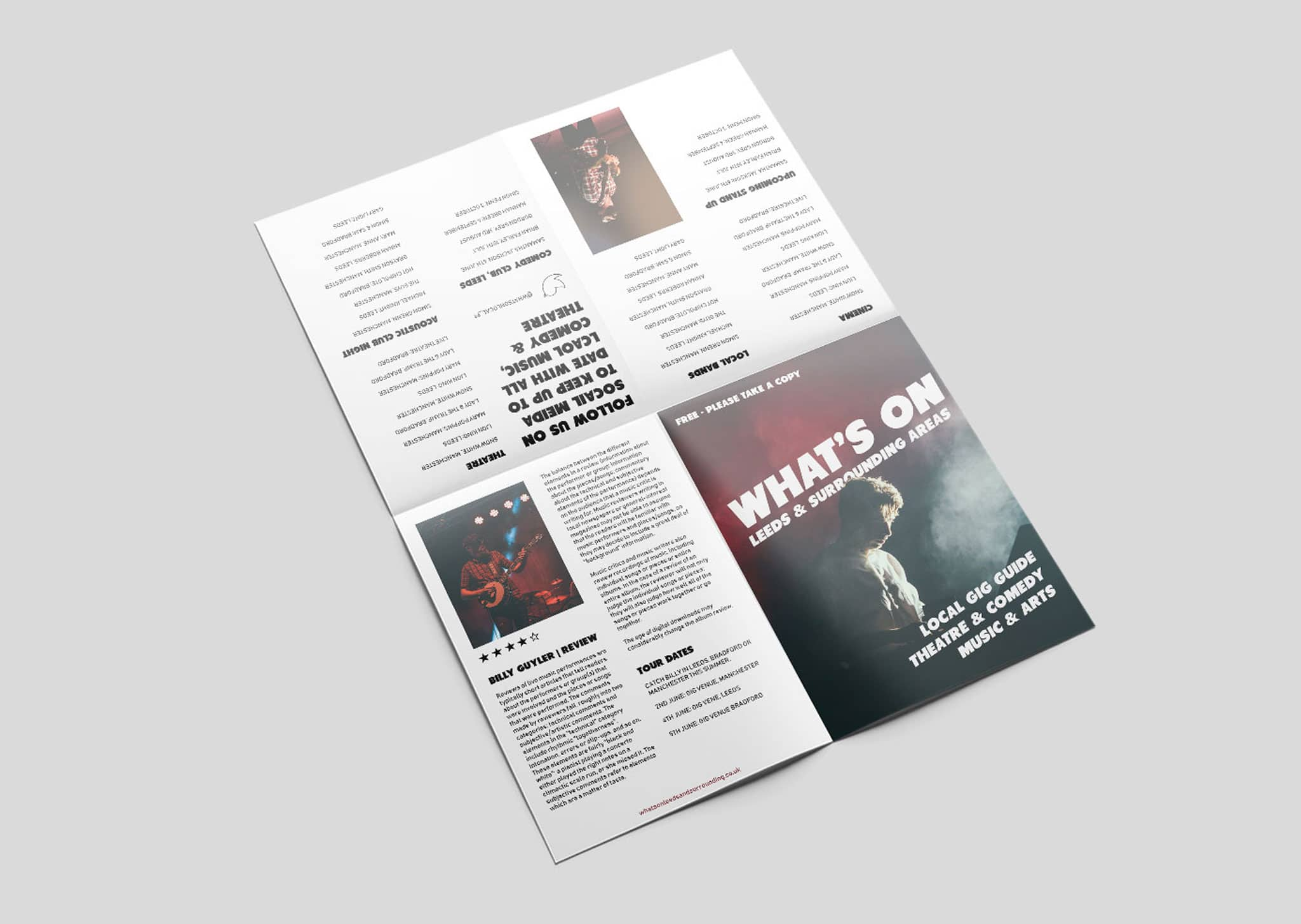 A Z Design And Print Services Cross Fold Leaflet Printing