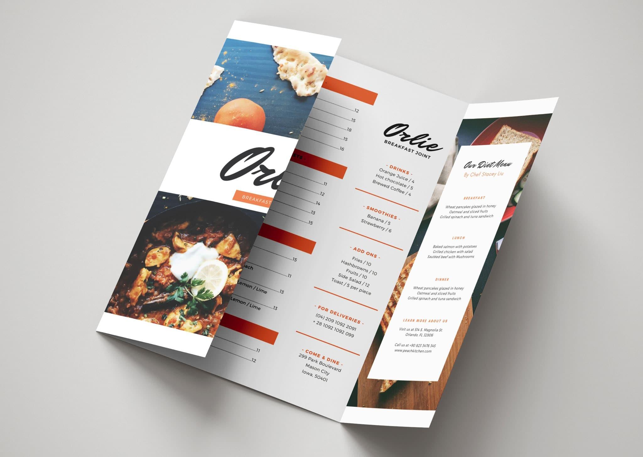 A Z Design And Print Services Gate Fold Menu Printing