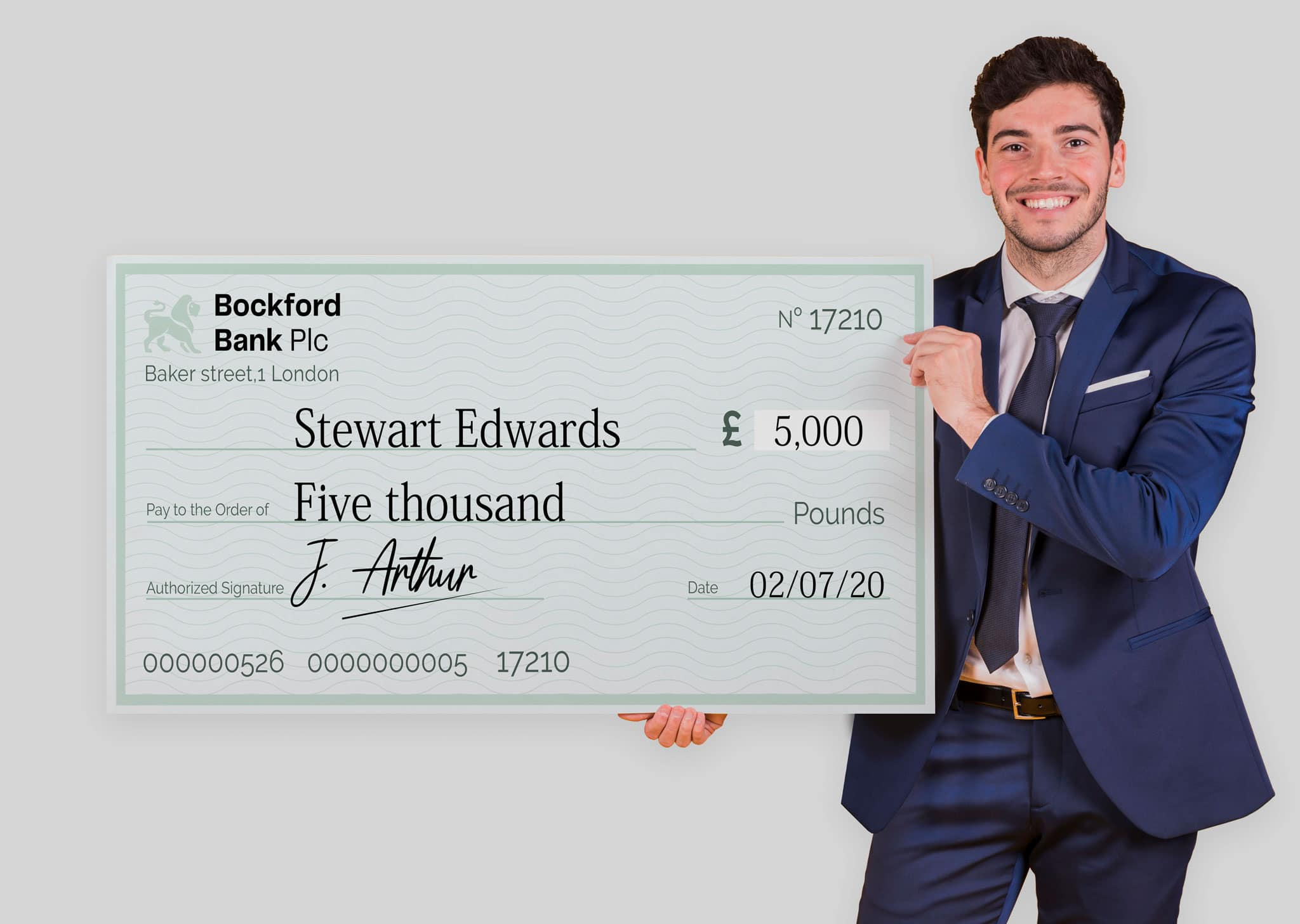 A Z Design And Print Services Giant Cheque Printing