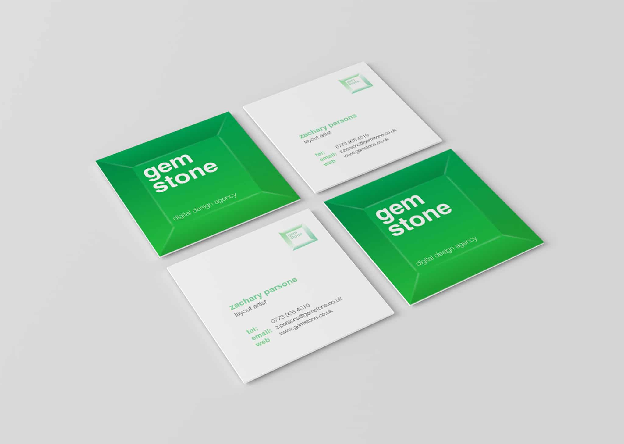A Z Design And Print Services Square Business Card Printing