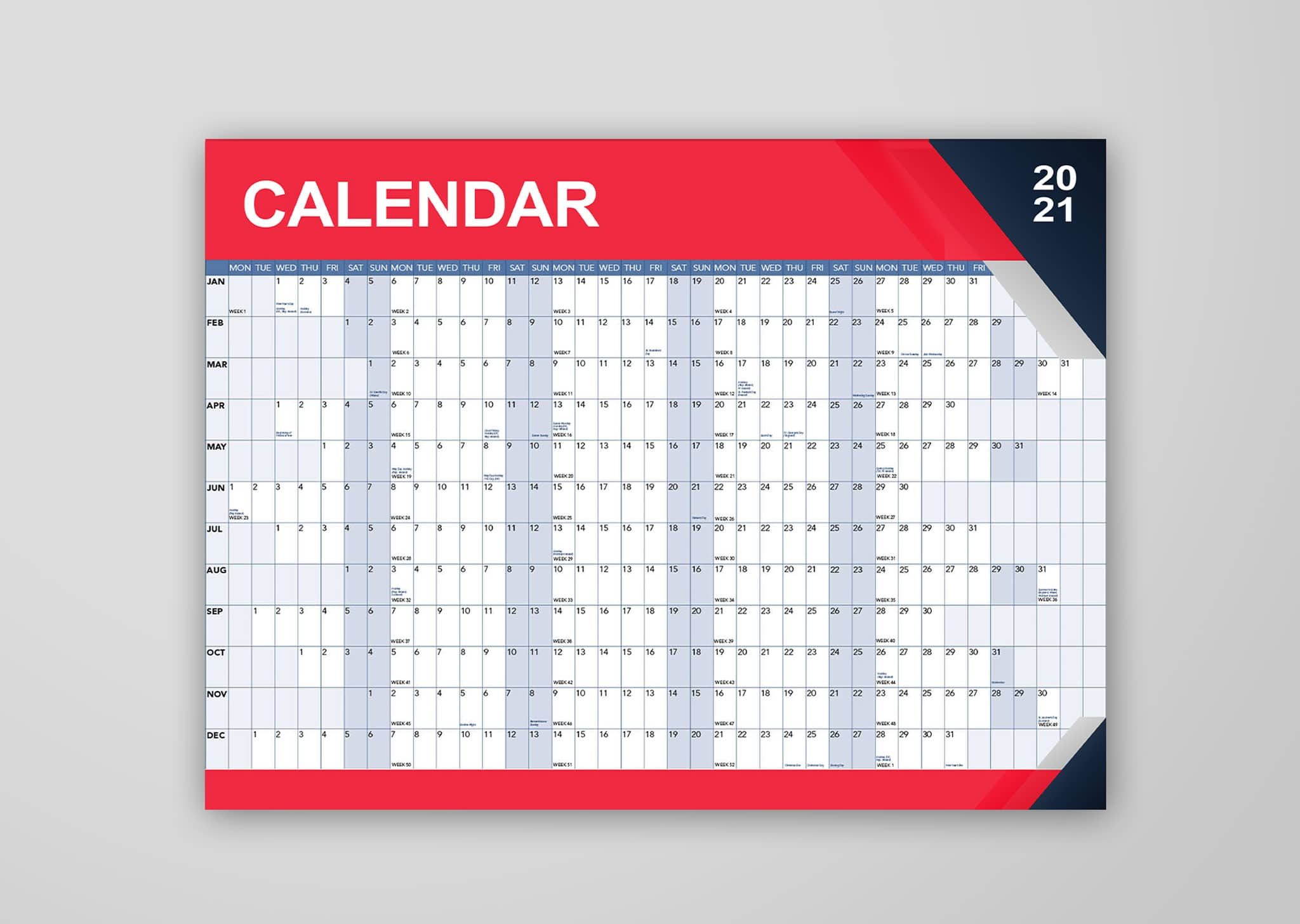 A Z Design And Print Services Wall Planner Printing