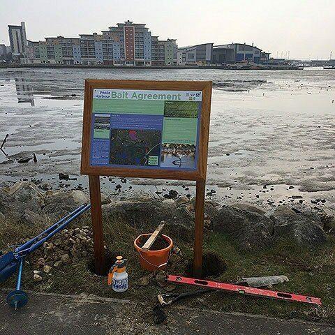 Interpretation Panel Installation Holes Bay Poole Dorset Square