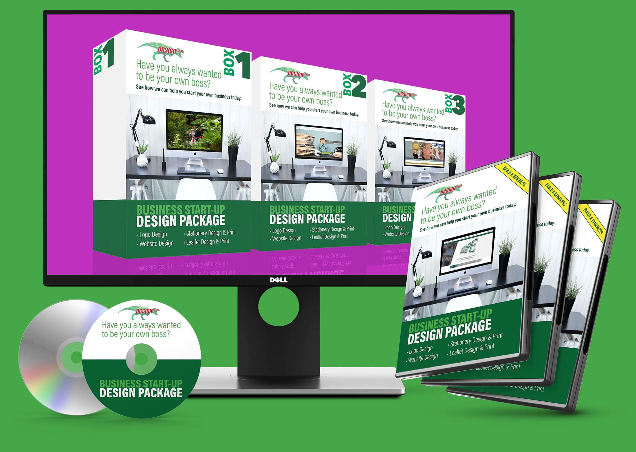 Business Start Up Design Package Mock Up Bundle